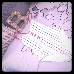 Other - NWOT Striped Onesie Bathing Suit 😍🎀